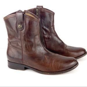 Frye Melissa Short Side Zip Short Boot